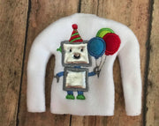 Birthday Robot Elf Sweater In the hoop ith embroidery design