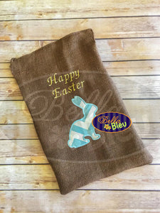 Adorable Easter Bunny Rabbit Silhouette Applique Embroidery  Design