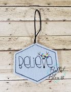 ITH Believe Reindeer Girl Christmas Ornament