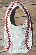 ITH In The hoop Baseball or Softball Bib with home plate stipple quilting machine embroidery design