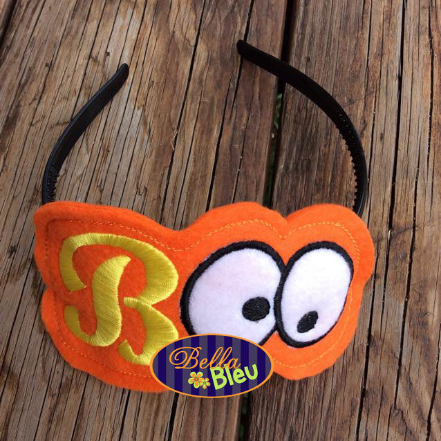 Ith In The Hoop Halloween Boo Eyes Headband Topper Machine