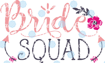 Bride Squad Wedding Party Bachelorette SVG Cuttable File Saying Wording Vinyl