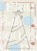 ITH Christmas Tree Coloring Page Machine in the hoop embroidery design