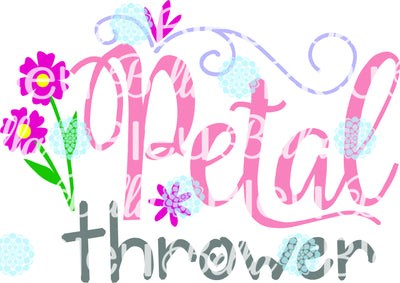 Petal Thrower Flower Girl SVG Cuttable Vinyl File