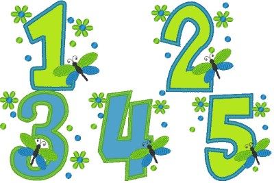 Dragonfly & Daisy Number Set
