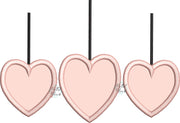 Trio Valentines Heart Applique Machine Embroidery Design