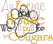 As for me and my house we will pull for the Cougars