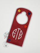 ITH Door Hanger Applique Embroidery Design