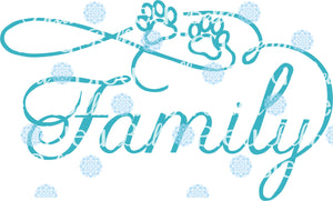 Family with Paw Prints Dog Cat Wording Words Saying SVG Cuttable File Vinyl files