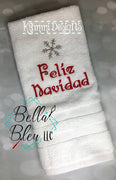 Feliz Navidad Holiday Snowflake Machine Embroidery design