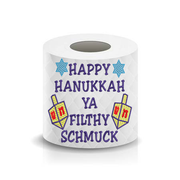 Happy Hanukkah Ya Filthy Schmuck Funny Saying Toilet Paper  Machine Embroidery Design sketchy