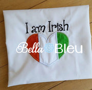 Irish Flag Heart St Patricks Design