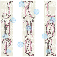 Large Victorian Alphabet Sketchy Font 6x10 hoop only