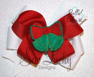 ITH Jingle Bells feltie bean stitch