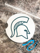 Michigan State Drink Sand Stone Car coaster - MSU Spartans - Licensed