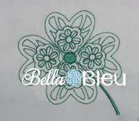 Quick Stitch Celtic Irish Quilting Floral Machine Embroidery design