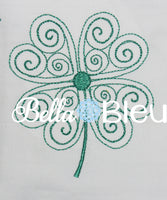 Beautiful Irish Celtic Shamrock Quick Stitch Quilting Machine Embroidery design