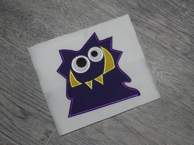 Silly Monster Machine Embroidery applique design 8x8