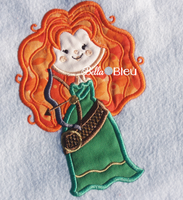 Inspired Celtic Archery Merida Beauty Princess Machine Applique Embroidery Design