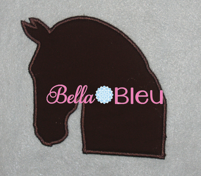 Dressage Silhouette Horse Machine Applique Embroidery design