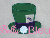 Inspired Mad Hatter Hat from Alice Machine Applique Embroidery Design