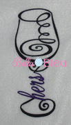 Hers Wedding Wine Glass Machine Embroidery Design