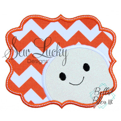 Peek a book Ghost Boy Halloween Applique
