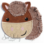 Raggy Pony Horse bean stitch applique