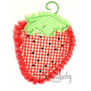 Raggy Strawberry bean stitch applique