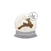 Reindeer in Snow Globe Applique