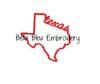 State of Texas with Signature Texas baseball hat cap machine embroidery design