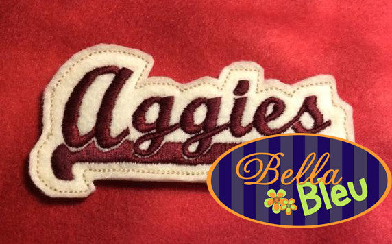 ITH in the hoop Aggies Headband Topper machine embroidery