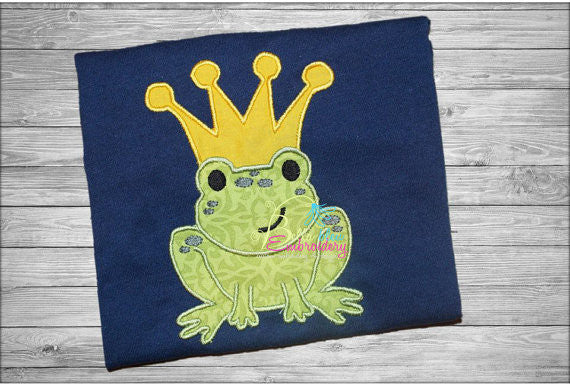 Prince Charming Frog Applique Embroidery Designs Design