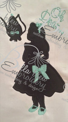 Inspired Alice Silhouette Applique Embroidery Designs Design Princess