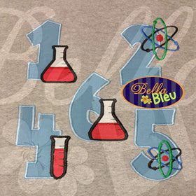 Applique Scientist Science 1-9 Numbers Applique MachineEmbroidery Design