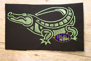 Mardi Gras Alligator Croc Gator Filled Embroidery Design