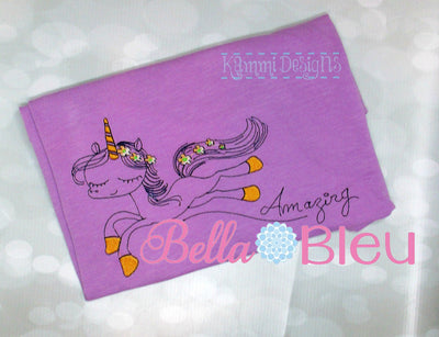 Amazing Unicorn Sketchy Machine Embroidery design