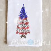 American Flag Christmas Tree  Scribble Sketchy