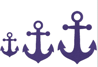 Anchor Fill Embroidery Design