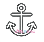 Anchor Applique Embroidery Design