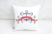 Nautical Anchor Banner Sketchy machine embroidery design
