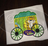 Animal Circus Train Cage Applique Machine Embroidery Designs