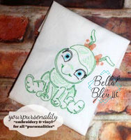 Quick Stitch Girl Ant Insect Bug Machine Embroidery Design COLORWORK