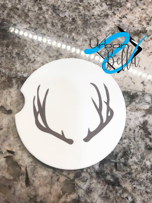 Deer Antlers Hunting Drink Sand Stone Car coaster