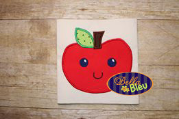 BTS School Happy Kawaii Apple Applique Embroidery Designs
