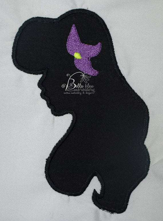 Mermaid Princess Silhouette Applique Embroidery Designs Design