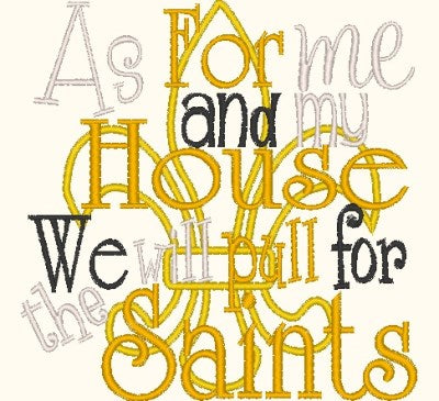 As for me and my house we will pull for the Saints