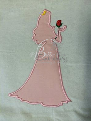Sleeping Princess Silhouette Applique Embroidery Designs Design