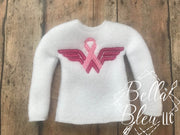 Awareness Ribbon ITH Elf Sweater Shirt