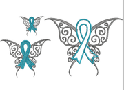 Awareness Butterfly fill and Applique